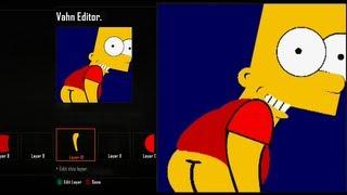 "Call of Duty Black Ops 2 Emblem Editor Tutorials - Black Ops 2 - Bart Simpson Mooning "" Eat My Shorts "" Emblem Tutorial ( The Simpsons ) Playercard"