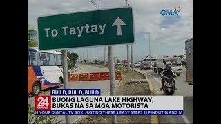 Buong Laguna Lake Highway, bukas na sa mga motorista