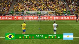 Brazil vs Argentina   Penalty Shootout   Messi vs Coutinho   PES 2019 Gameplay PC