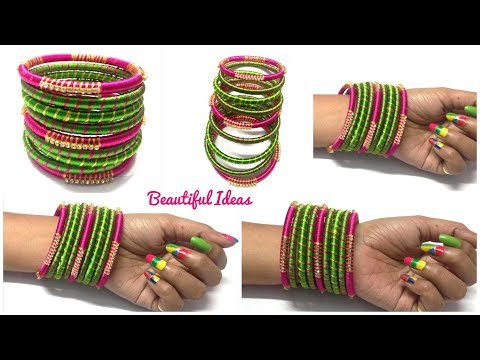 DIY//How to Make Silk thread Designer Bangles/ Silk thread Bangles Making at Home/Bridal Bangles.