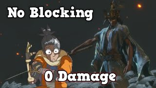 Sekiro: Worlds First 0 Hit/Damage (No Blocking) Immortal Severance Run