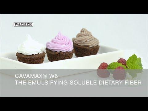 CAVAMAX® W6 - Emulsificando fibra soluble en coberturas