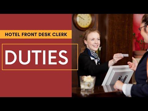 Front Desk Receptionist Duties | Hotel Training | Front Desk Clerk ...
