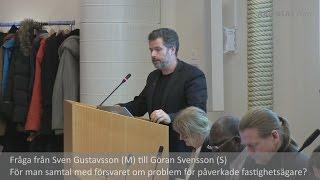 preview picture of video '2015-03-02 Haninge kommunfullmäktige - Frågestund: Försvarets problem för fastighetsägare'