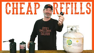 How To Easily Refill Your 1 lb Propane Bottle - Video