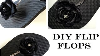 Rose and Chain Flip Flop (DIY)