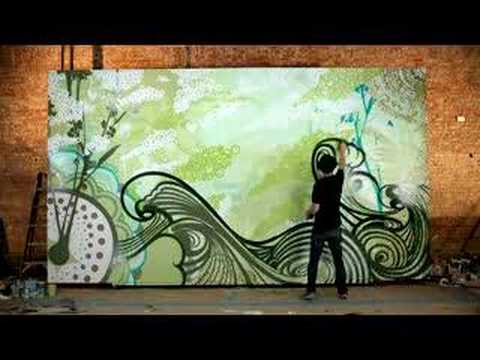 we are supervision time lapse mural painting