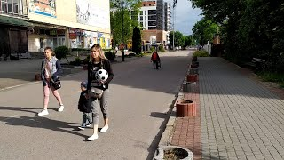 Моршин прогулка от бювета по улице Франко мимо дворца культуры