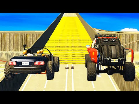 BeamNG.DRIVE - Air Speed Bumps High Speed Crashes #2