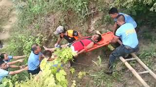 Responders during the rescue operations in Sitio Sindulan, Barangay Tinaa-an in the City of Naga in Cebu after a landslide buried around 20 houses and killed four residents.
