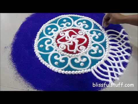sanskar bharati rangoli design for diwali by poonam borkar