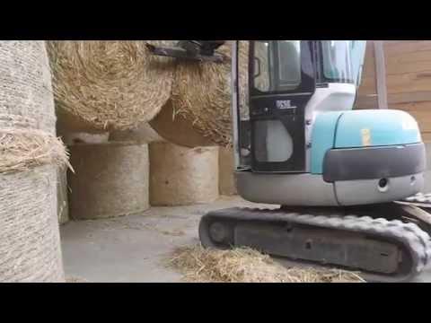 Impianto forca scavatore Kobelco - Agricola San Marco-Vendita diretta Carne Chianina