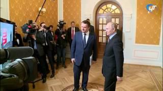 Президент Владимир Путин встретился с врио губернатора области Андреем Никитиным