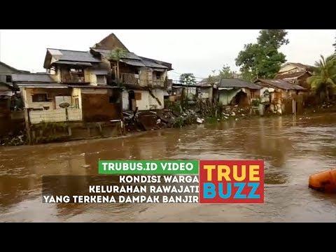 Kondisi Warga Kelurahan Rawajati yang Terkena Dampak Banjir