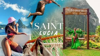 DREAM BAECATION IN ST LUCIA  DRIVE-IN VOLCANO, BLACK SAND BEACH, MOUNTAIN CLIMBING   TRAVEL VLOG
