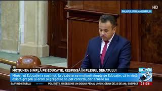 Ministrul Educaţiei Se Face De Râs Din Nou. Ce A Spus Liviu Pop în Plenul Senatului