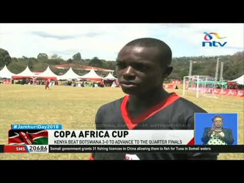 Copa Cocacola Africa Cup: Kenya beat Botswana 3-0 to advance to the quarter finals