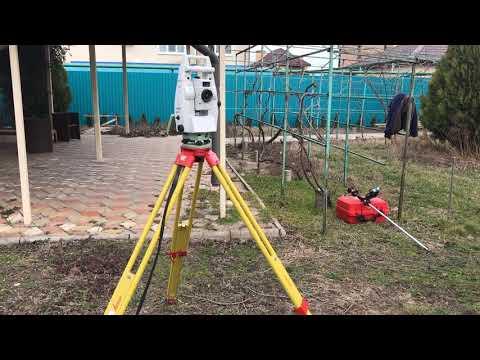 Геодезическая съемка для ландшафтного дизайна тахеометром Leica TS 16i