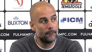Fulham 0-2 Manchester City - Pep Guardiola Full Post Match Press Conference - Premier League