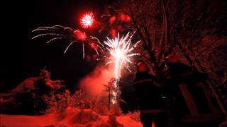 preview picture of video 'Salzburg: Silvester Feuerwerk 2014/15 - Pyrovision - new year fireworks 2015'