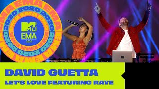 David Guetta ft Raye - Let's Love (Live from the MTV EMA 2020)