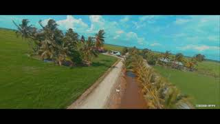 Flying FPV drones with paddy field Tanjung Karang Sekinchan