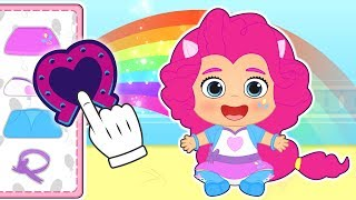 BABY LILY Dresses Up As Color Pony 🐴🌈 Cartoons For Kids