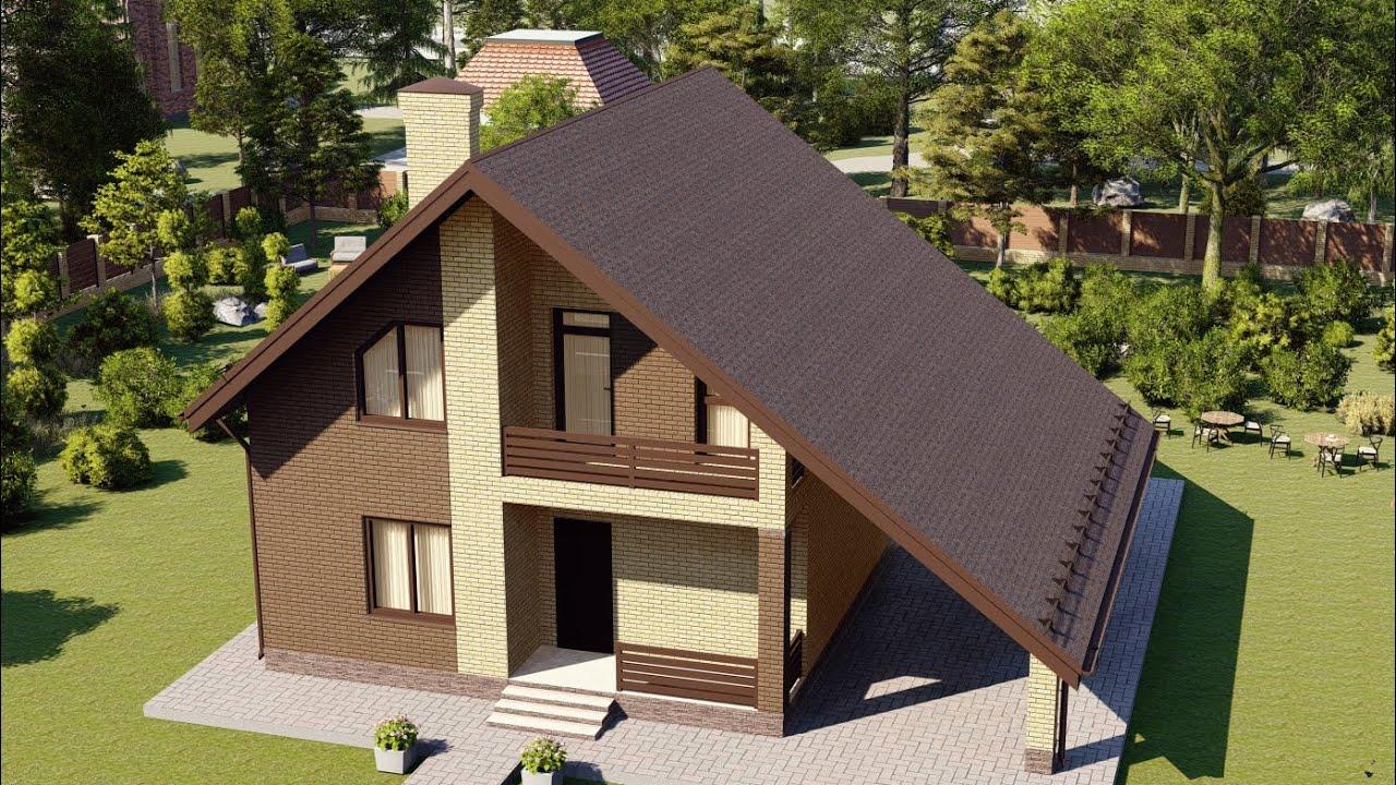 Проект дома 118-A, Площадь дома: 118 м2, Размер дома:  8,9x10,2 м