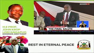 Kakamega Governor Oparanya leads Governors to pay tribute to Former President Daniel Moi