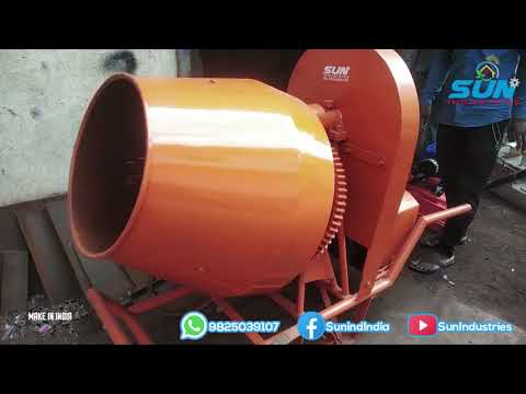 Electric Hand Fed Concrete Mixer