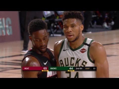 BUCKS vs HEAT – 1st Half Highlights | NBA Restart