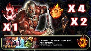 MCC 80 CRISTAL DE SELECCION DEL ASPIRANTE 1 5 ESTRELLAS 4 4 ESTRELLAS 2 GRAN MAESTRO ABRIENDO CRISTA