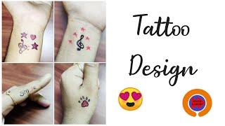 Tattoo Designs For Girls|| Simple Tattoo Design 😍