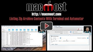 Listing Zip Archive Contents With Terminal and Automator (#1608)