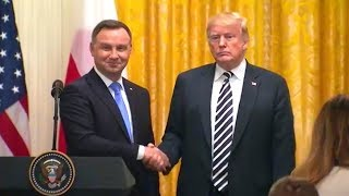 President Trump hosts a joint press conference with the President Duda of the Republic of Poland  Se