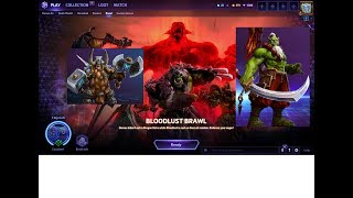 Heroes of the Storm : Gameplay Bloodlust Brawl Muradin and Samuro Game Chest Open