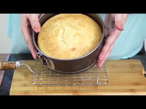 Video No butter / oil  Sponge Cake Recipe | How to bake Low Fat Sponge Cake