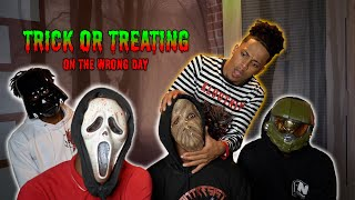 Trick Or Treating On The WRONG DAY In The Hood!