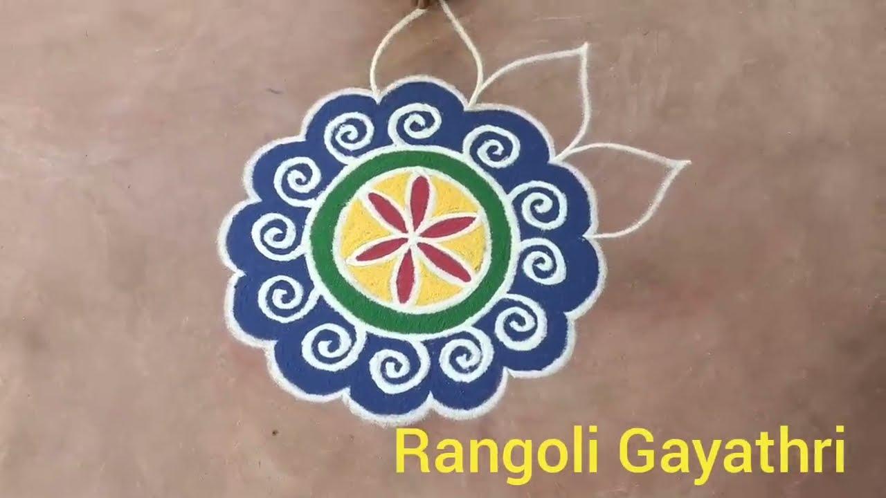 pongal rangoli kolam design by gayathri