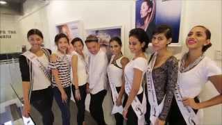 Miss Universe Malaysia 2015 Contestants during Tutorial to Hairstyling by Shawn Cutler