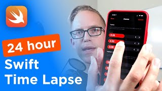 iOS Swift Tutorial - this is a 24 hour code time lapse (Sketch to App)
