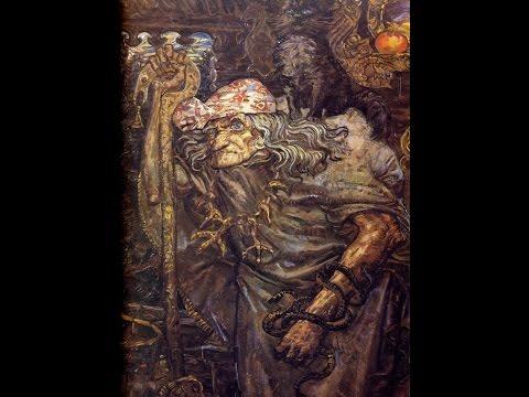 Ведьма  Фекла произносит заговор русского чернокнижия для свершения ритуала кладищенского приворота
