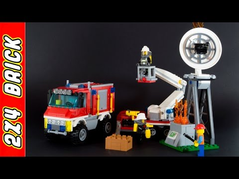 Vidéo LEGO City 60111 : Le camion d'intervention des pompiers