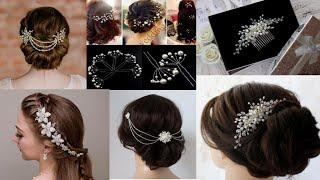 Beautiful Beaded Bridal Hair Accessories Design Ideas/pearl Hair Clips/hair Pins 2020