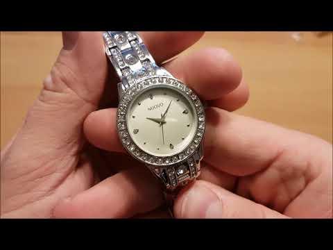 NUOVO Damen Quarz uhren Diamant mit Silber Edelstahl Armband und Analog Display