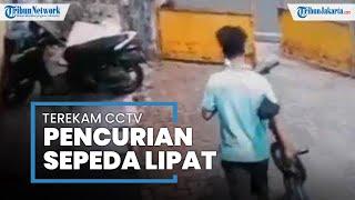 Terekam CCTV, Aksi Dua Pemuda Maling Sepeda di Gambir Beredar di Media Sosial