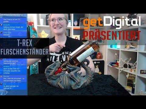 getDigital präsentiert: T Rex Flaschenständer für Weinflaschen