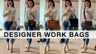 5 BEST DESIGNER WORK BAGS + Whats In My Bag? I Hermes & Gucci