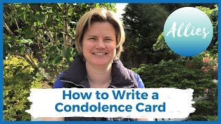 How to write a good condolence card for a death in 2020 #sympathy #condolence #letter #card #writing
