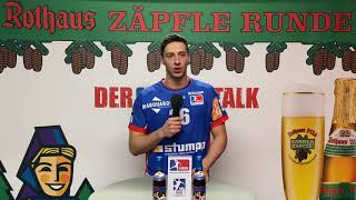 Rothaus-Fantalk nach dem Spiel gegen den TUSEM Essen